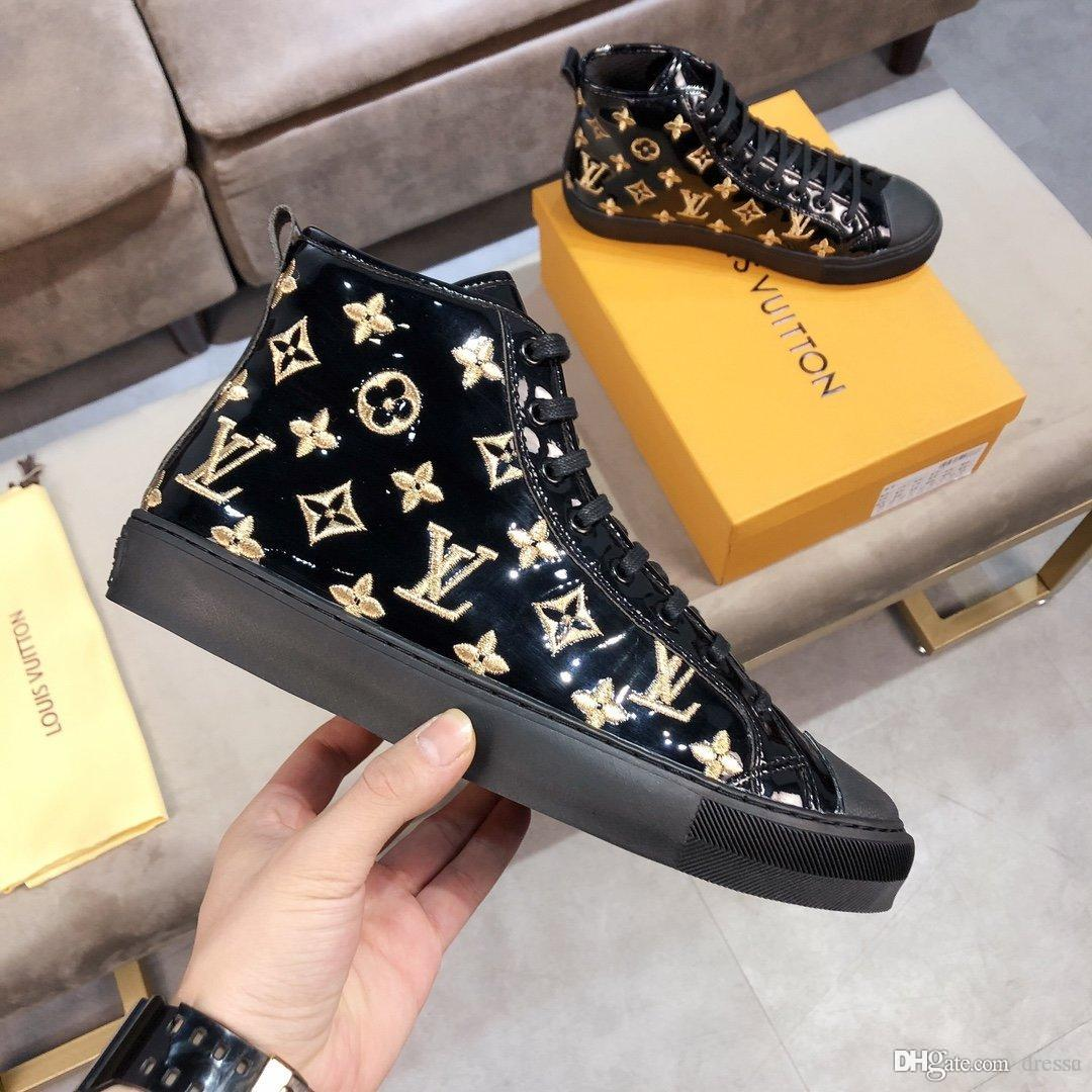 botas de moda masculina Novo1 altos para calçados esportivos ajuda selvagens casuais ao ar livre padrão de couro confortáveis sapatos de viagem caixa de embalagem original