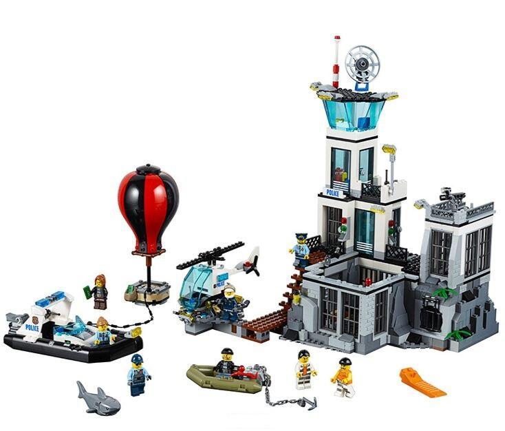 في سوق الأسهم NEW مدينة لعبة بناء متوافق مع Lepining مدينة سلسلة 60130 بناء كتل من السجن جزيرة ألعاب الهوايات
