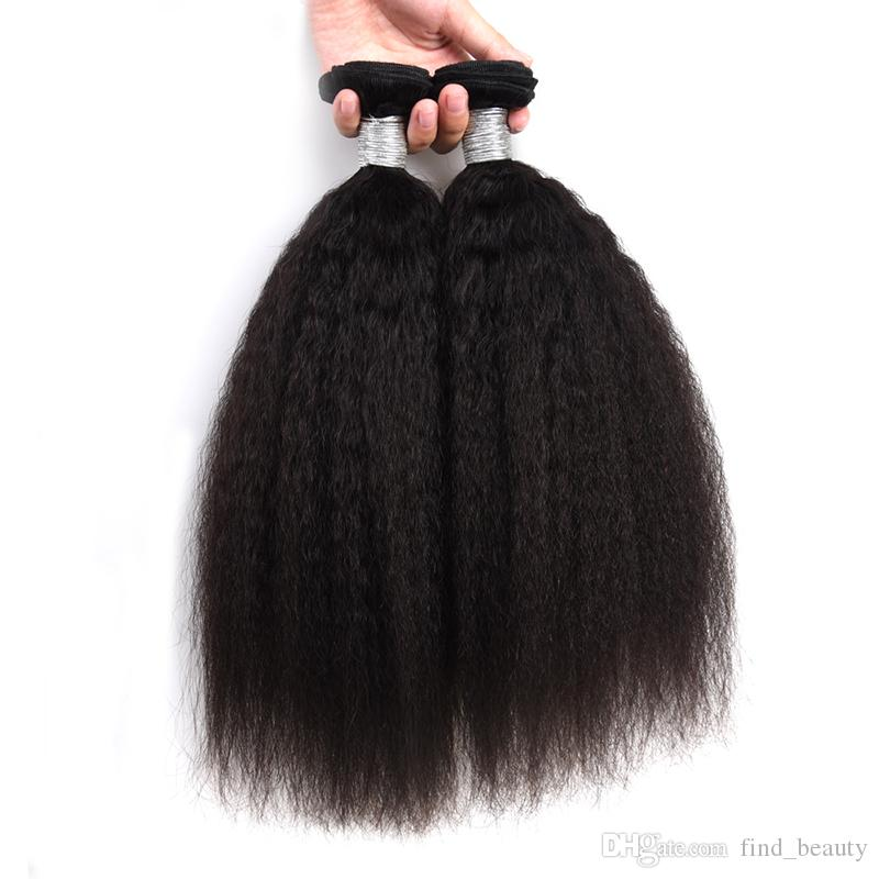 Brasileiro virgem do cabelo humano de 100% completa cutícula Alinhados Bundles, Kinky Hetero Tecelagem de cabelo, Mulheres Cabelo tramas 7A Qualidade