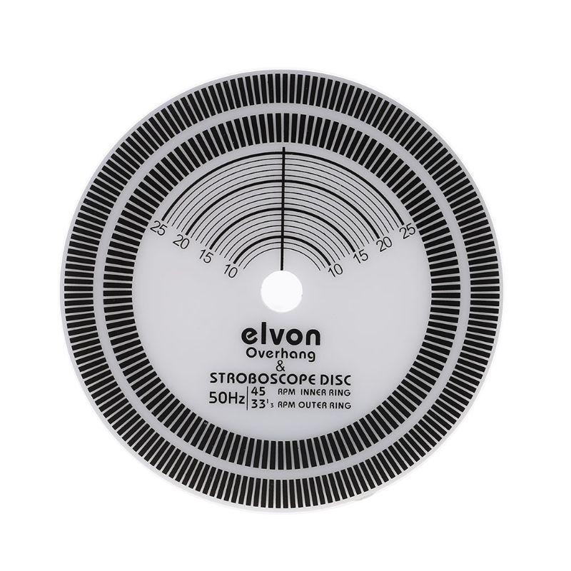 Para LP Registro de vinil da plataforma giratória Phono Calibração do tacômetro Distância Medidor transferidor Disc Estabilizador