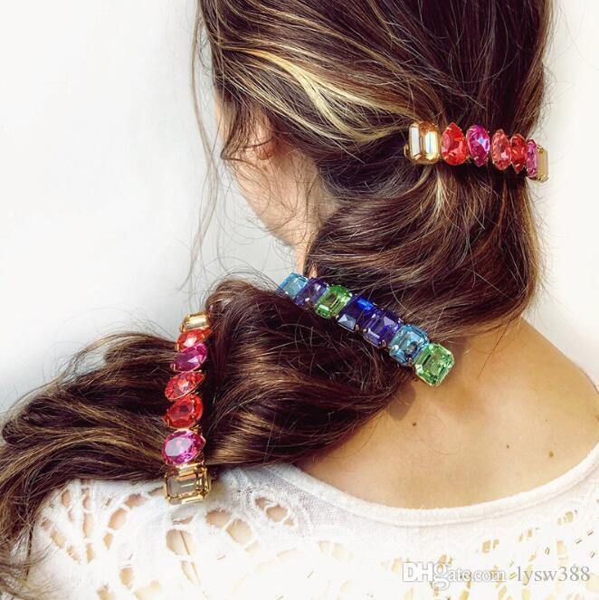 60pcs/lot DIY Multi Alloy Set Auger Crystal Hair BB Clips Simple Bang Girls Hairpins Hair Styling Tools Hair Accessories HA1263