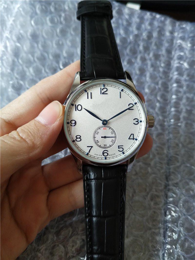Ny mode högkvalitativ svart läder mens automatisk klocka armbandsur w20