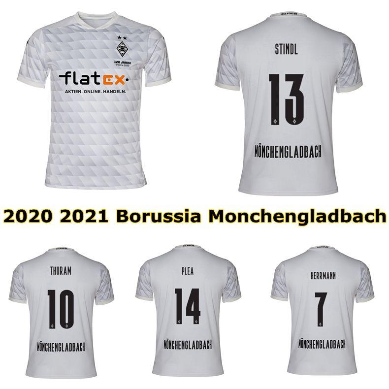 2020 2021 Borussia Monchengladbach Soccer Jersey 20 21 Borussia Gladbach Plea Stindl Zakaria Thuram Football Shirt