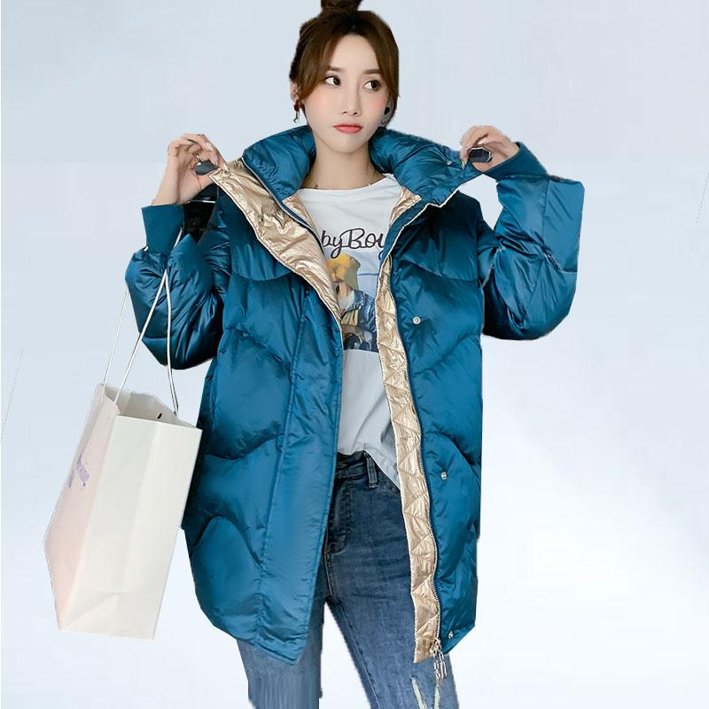 Escudo suelta Pan 2019 mujeres del invierno por la chaqueta de la moda caliente de pato blanco abajo cubre abrigo abrigo de alta calidad mujeres Streetwear