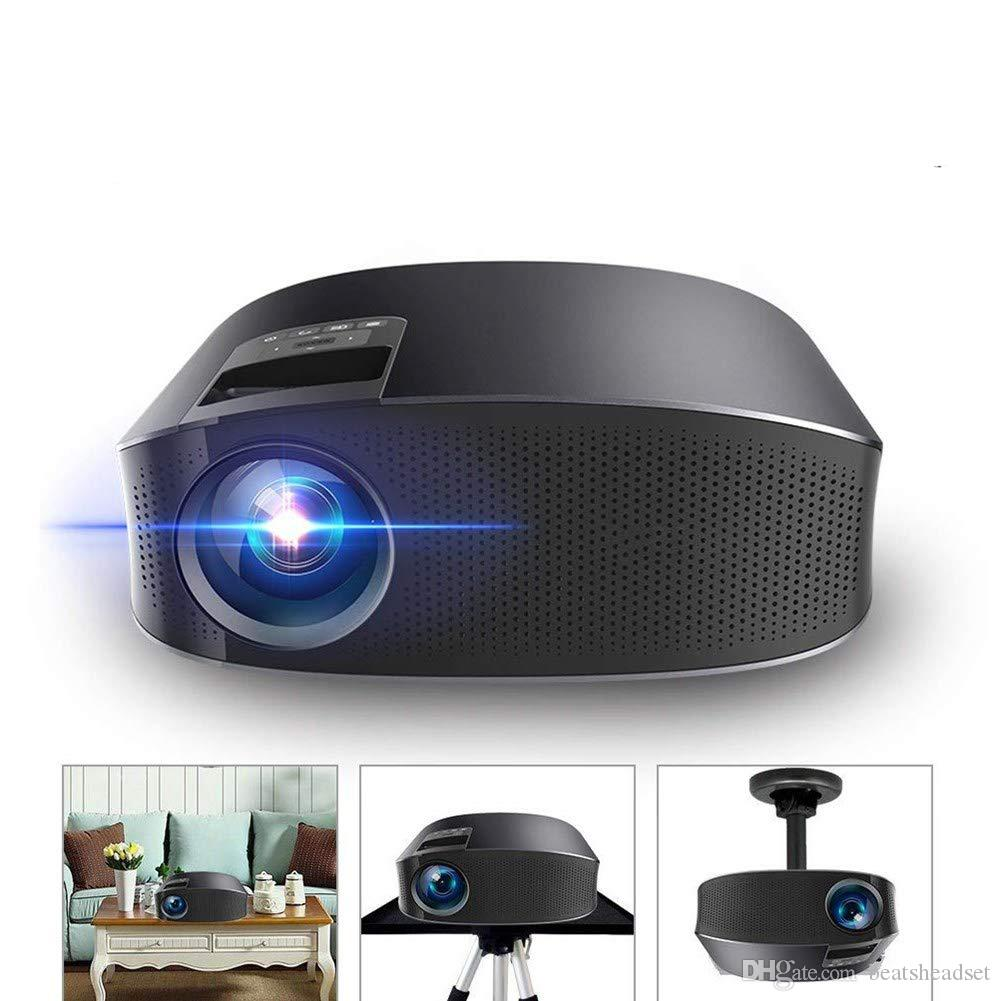 YG-600 Portable Video Projector 2000 Lumens Projector Support 1080P HD for Video/Movie/Game/Home Theater with HDMI/VGA /USB/SD/AV Input