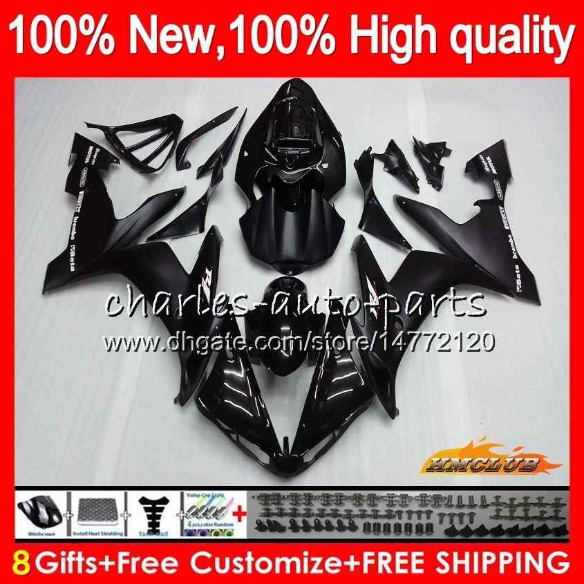 Body YAMAHA YZF 1000 brillant YZF noir R 1 1000 CC YZF1000 1000CC 63HC.1 YZF R1 04-06 YZFR1 YZFR1 04 05 06 2004 2005 2006 Kit Carénage
