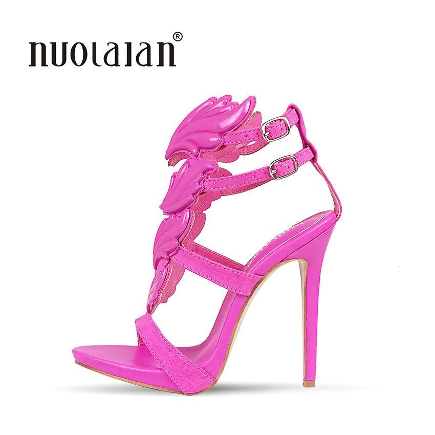 Verão Marca Mulheres Bombas Sexy Salto Alto sandálias Folha Chama Sapatos Femininos Peep Toe Sapatos de Salto Alto Sapatos de Festa de Casamento Mulher