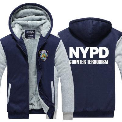 8aad867f winter hoody NYPD New York Police Department Men women Thicken autumn  Hoodies clothes sweatshirts Zipper jacket