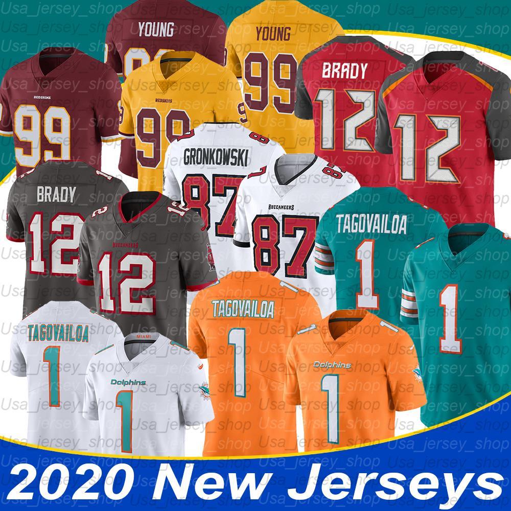NCAA Tom Brady 12 Джерси Роб Гронкауски 87 Chase Young 99 Туа Tagovailoa 1 Футбол Джерси