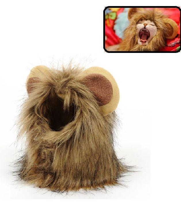 Komik Tasarım Aslan Şekli Şapka Pet Kedi Köpek Şapka Cadılar Bayramı Şenliği Makyaj Kedi şapka Ayarlanabilir Pet Malzemeleri