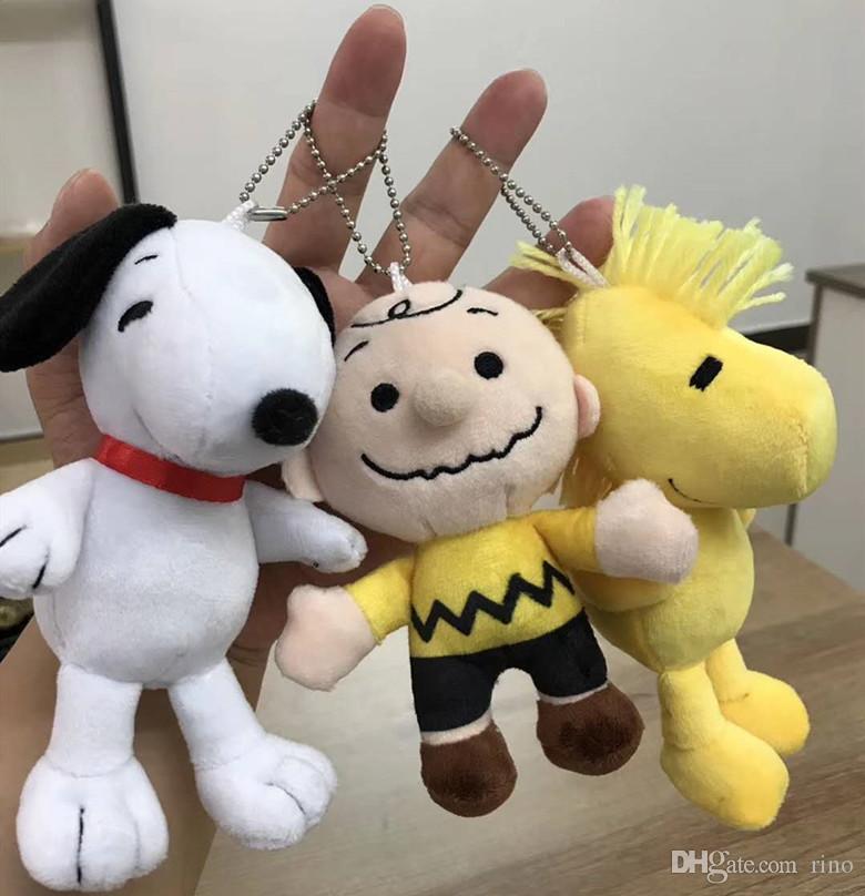 Kinder weiche Kuscheltiere Spielzeug 13cm Snoopy Hund Charlie Brown Plüsch kawaii Snoopy Puppen Bagpack Anhänger 4 Styles Kindergeschenke