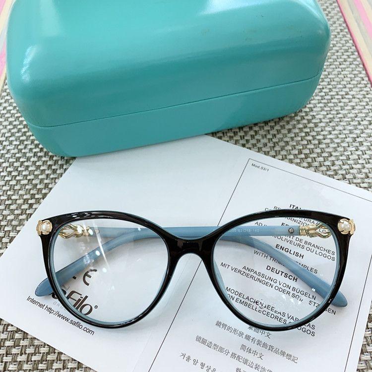 2020 New Styl Exqusite TF2213 Frauen Glasrahmen 52-18-140 künstliche Perlendekoration ITALIEN Planke für Brillen fullset Verpackung