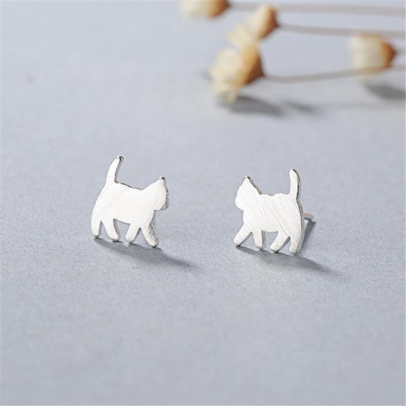 2020 Novo 925 Sterling Silver Cut Cat Brinco por Mulheres Wedding Jewelry Design simples Brinco Pendientes Bijoux
