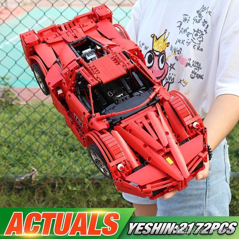 Yeshin 13085 Technic Araba Oyuncak The Sport Araba Yarışı Seti Yapı Taşları Tuğlalar 1: 8 Motor Fonksiyon Araç Modeli Çocuk Oyuncak Yılbaşı Hediyeleri
