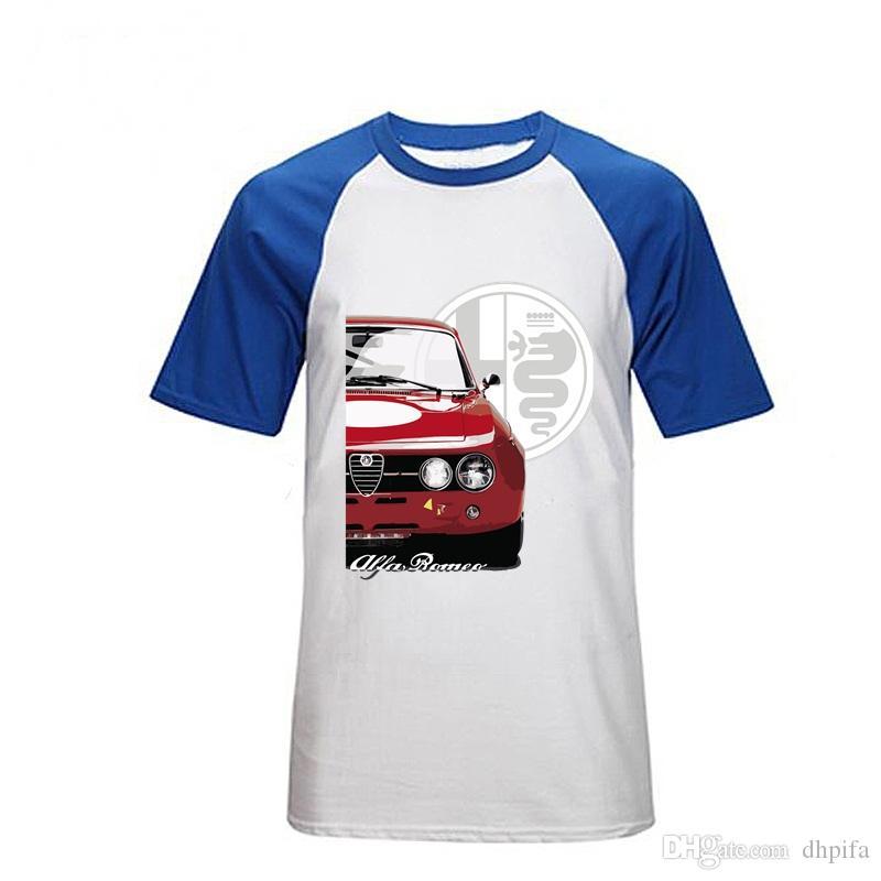 남성용 O 넥 티셔츠 독특한 패션 수트 Streetwear Camiseta 탑 스포츠 티셔츠 브랜드 디자인 자동차 티셔츠 알파 로메오 T 셔츠 맞춤형 폴로 셔츠