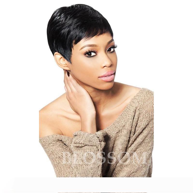 100% non trattati dei capelli umani Nessuno parrucche piene del merletto merletto anteriore parrucche con capelli del bambino 6A capelli umani brasiliani parrucca per le donne nere