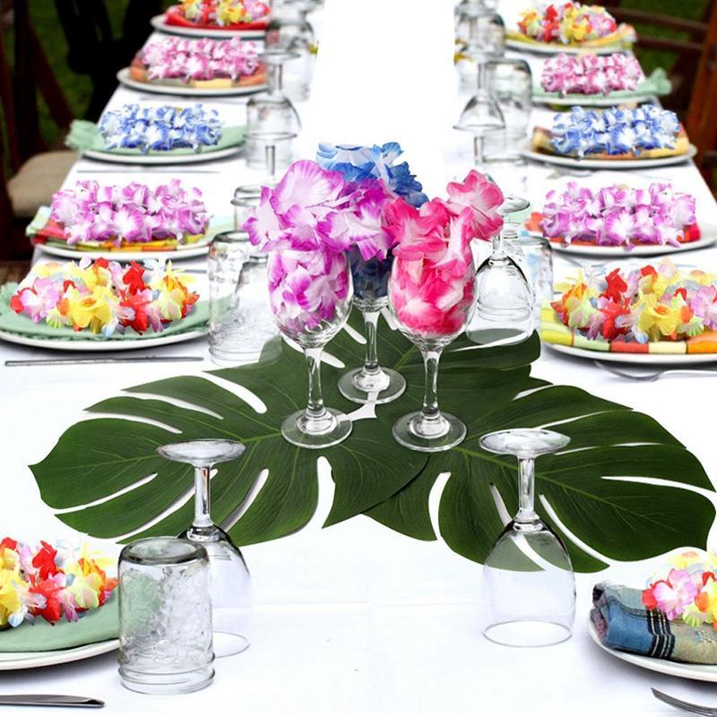 Hawaiian Luau Party Supplies-Hawaiian Leis (36Ct) mit Hawaii-Blumen-Haar-Clips (16Pcs), ideal für Ihre Hawaii Luaus