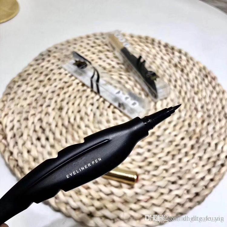 Más reciente marca de maquillaje M Eyeliner pen Feather Design Liquid Waterproof de larga duración Smooth Black Bringer Eye Liner Pen Eyeliner Cosméticos