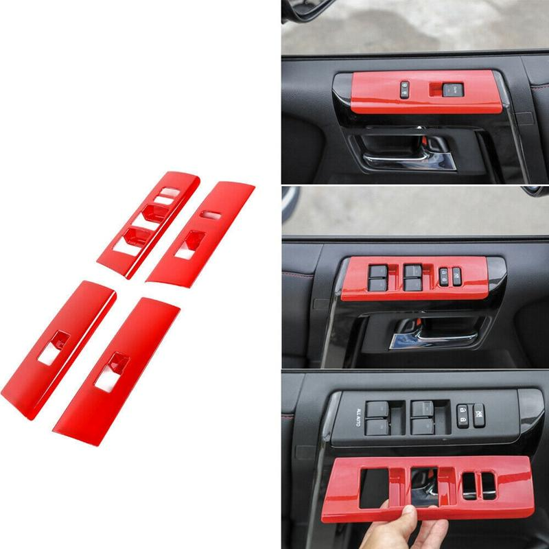 Window Lift Adjust Switch Trims Cover Decor Panel For Toyota 4-Runner 2010 4PCs