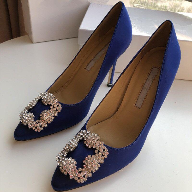 2019 High Heel Womens Dress Shoes Sale Low Heels Women Runway Pointed Toe Heel Shoes Woman Sandals yc19031302
