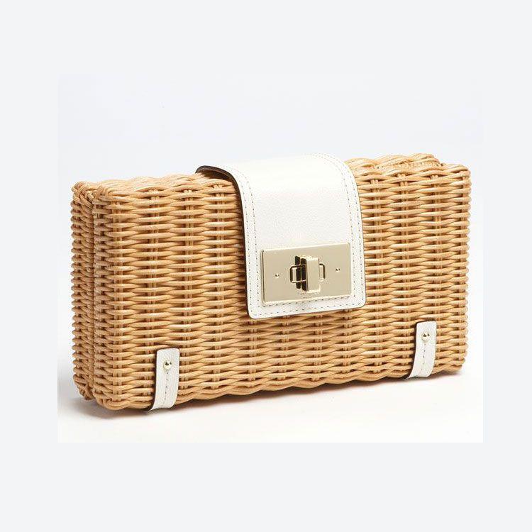 2019 nouveaux sacs à main en rotin de mode à la main d'embrayage sac d'embrayage portefeuille téléphone haut de gamme petit en cuir correspondant