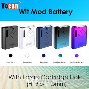 YOCAN WIT BATTERY Small Vape Mod Electronic Sigarette 500mAh VV Batteria con caricatore USB per 510 cartucce Atomizzatore di carrelli petroliferi