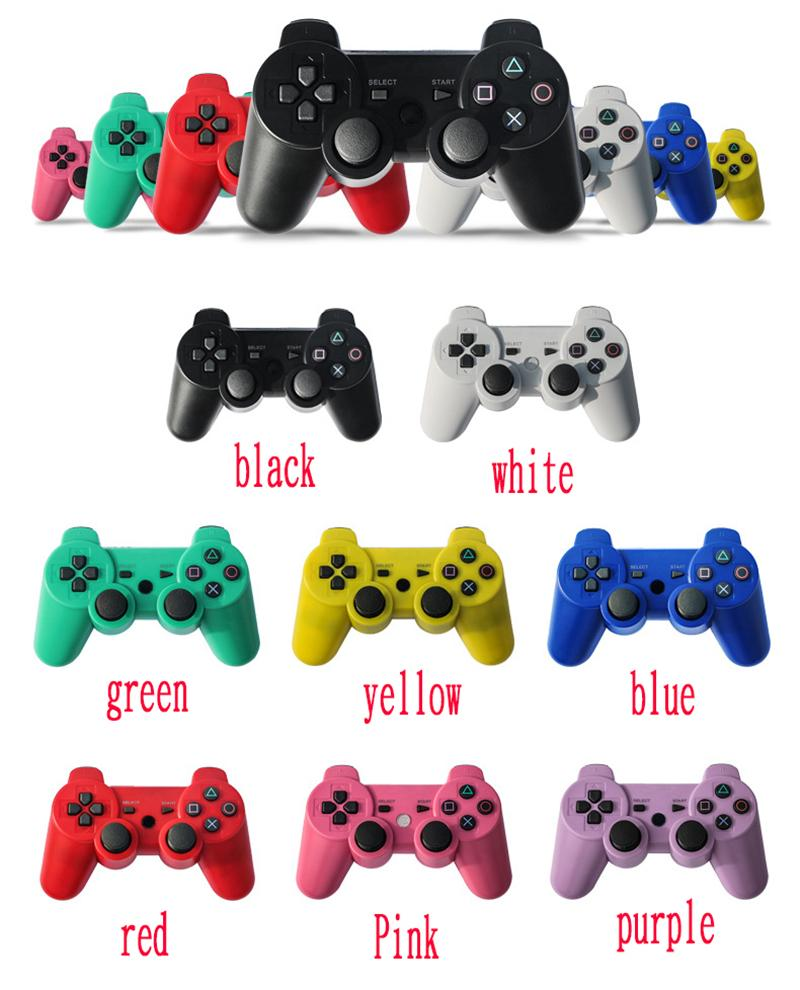 Bluetooth Wireless PS3 Game Controller For Sony shock Play station PS3 Console Video Games Joystick Gamepad With Retail Box DHL Free