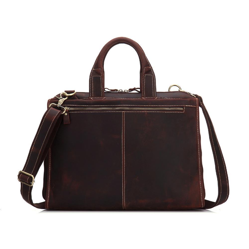YISHEN Vintage натуральная кожа мужчин портфель 15-дюймовый ноутбук сумки Мужской бизнес сумки ретро плеча сумки MSXY8901