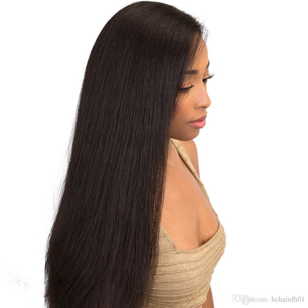 Capelli umani merletto pieno Per Black Women Remy brasiliana diritta dei capelli Merletto pieno con dei capelli del bambino 150 Densità Pre pizzico H