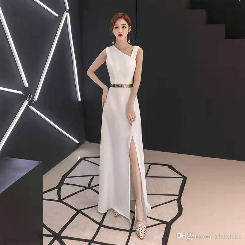Il vestito da partito di modo di alta qualità delle donne di lusso casual Vestito Bambina maniche a vita alta Slim spalle panno Donna Elegante Furcal