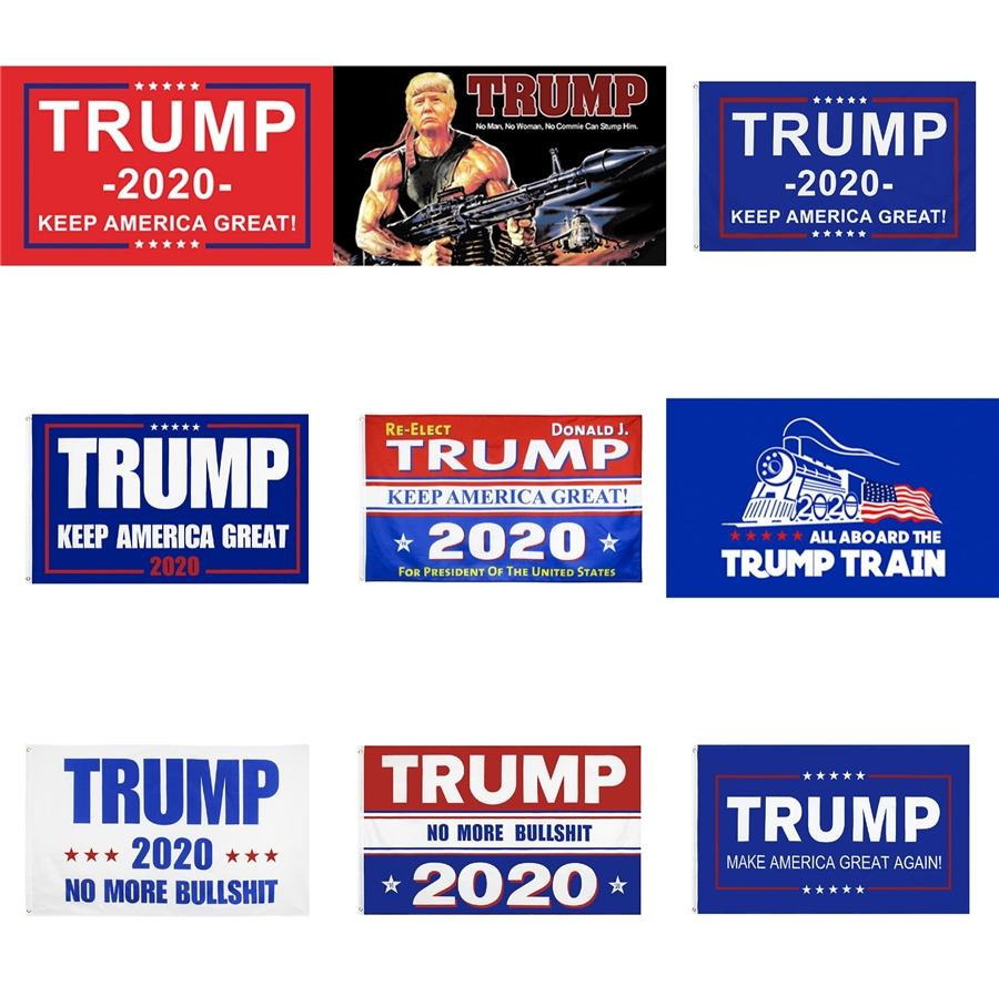 2020 Drapeaux Donald Trump numérique Printting Usa Président Drapeau Élection Bernie Sanders Biden Andrew Yang Bannière 8 modèles 12Wfb E1 # 296