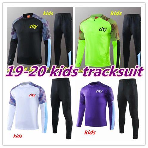 2019 ternos Formação 2020 Mahrez JESUS De Bruyne KUN AGUERO KIDS DESPORTO Treino homem da cidade SANE KIDS 19 20 futebol fato de treino