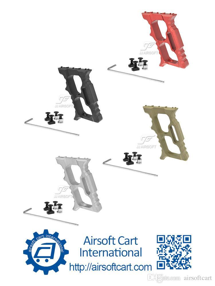 ACI halo Minivert angular aperto Foregrip Mão Parar Handstop para keymod MLOK MLOK leve (preto / vermelho / Tan / Silver)