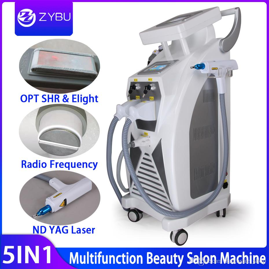 5 em 1 multifunções Strong Energia OPT Cabelo SHR IPL Laser Remoção ND YAG Laser tatuagem remoção beleza máquina IPLRF ND YAGElight