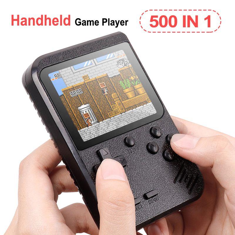 de video de mano consola de juegos portátil de 8 bit retro FC MODELO PARA FC 500 en 1 AV Juegos de color regalo del jugador del juego para los niños