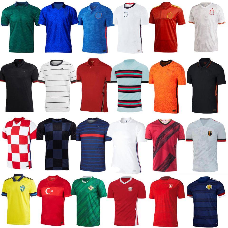 타이어 품질 축구 착용 유럽 컵 독일 축구 유니폼 프랑스 유니폼 잉글랜드 축구 유니폼 2020 2021 이탈리아 유니폼