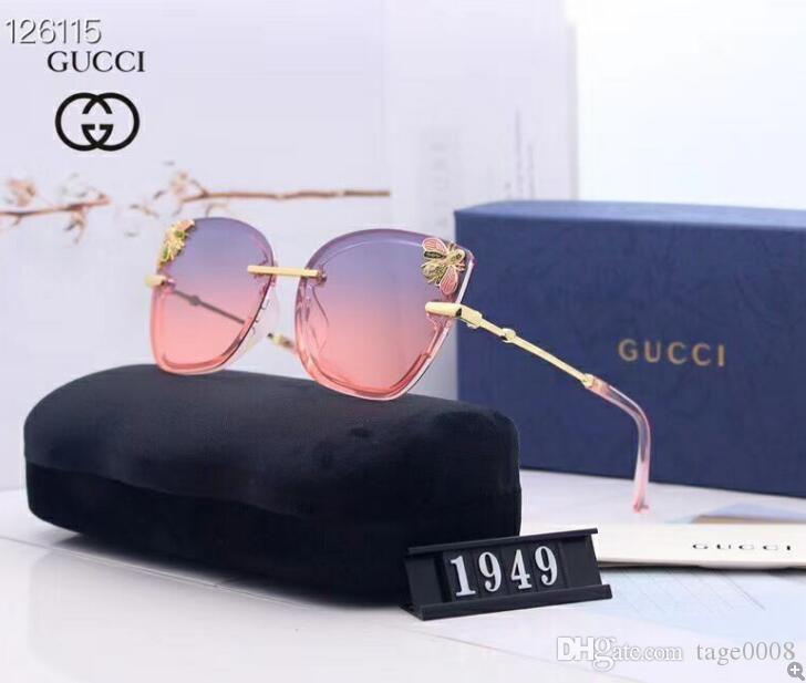 2020 Occhiali da sole rotondi metallici Designers Eyewear Gold Flash obiettivo di vetro per delle donne degli uomini specchio occhiali da sole rotondi sole unisex Glasse 026