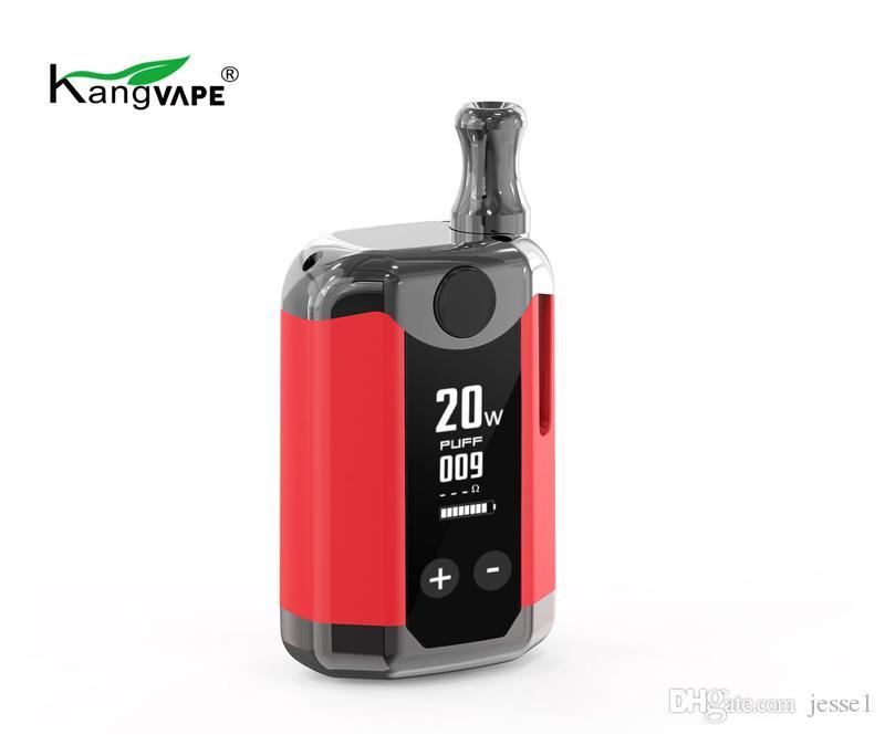 KANGVAPE TH420 V TH420V BOX KIT 800MAH 20W Température de puissance réglable Vape MOD-420V Box avec cartouche de bobine en céramique de 0.5ml DHL GRATUIT