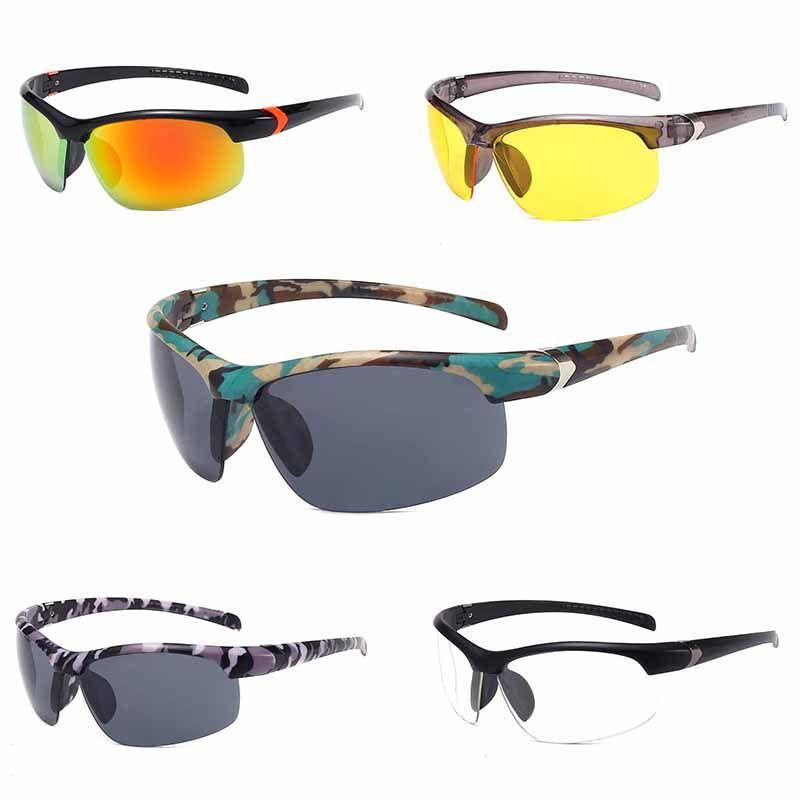 위장한 남녀 공통 색상 자전거 안경 태양 유리제 옥외 스포츠 선글라스 UV400 보호를 위한 고글 자전거 도로 자전거 대여소 낚시경