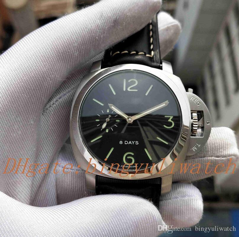 Nueva fábrica de lujo 1950 Serie 8 días de cuero de lujo de la correa de Súper mecánico automático movimiento del poder para hombre Relojes Reserva con la caja original