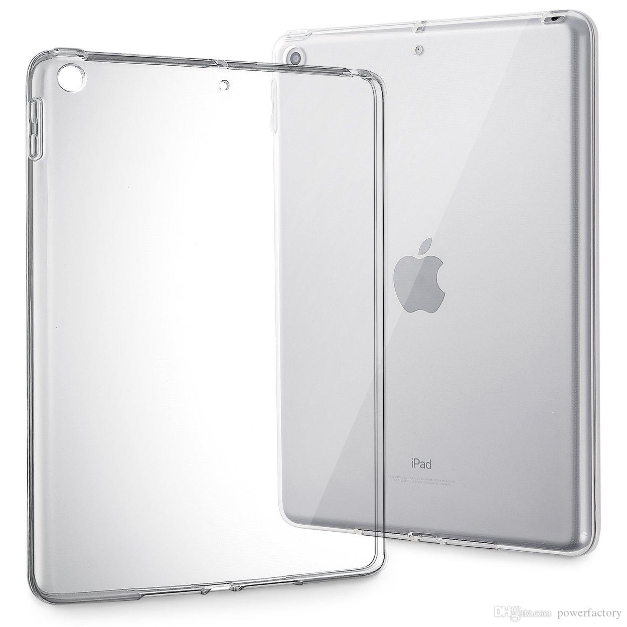 Transparent Rubber TPU Back Cover Case for Apple iPad 2//3//4 *Sale* Smart Cover