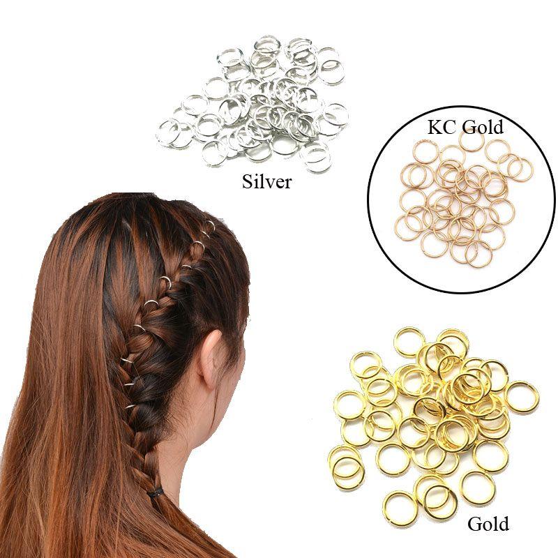 Плетение волос аксессуары бусины 10 мм 12 мм или 14 мм 16 мм золото волос Кос дреды шарик манжеты клип Кос обруч круг свинца