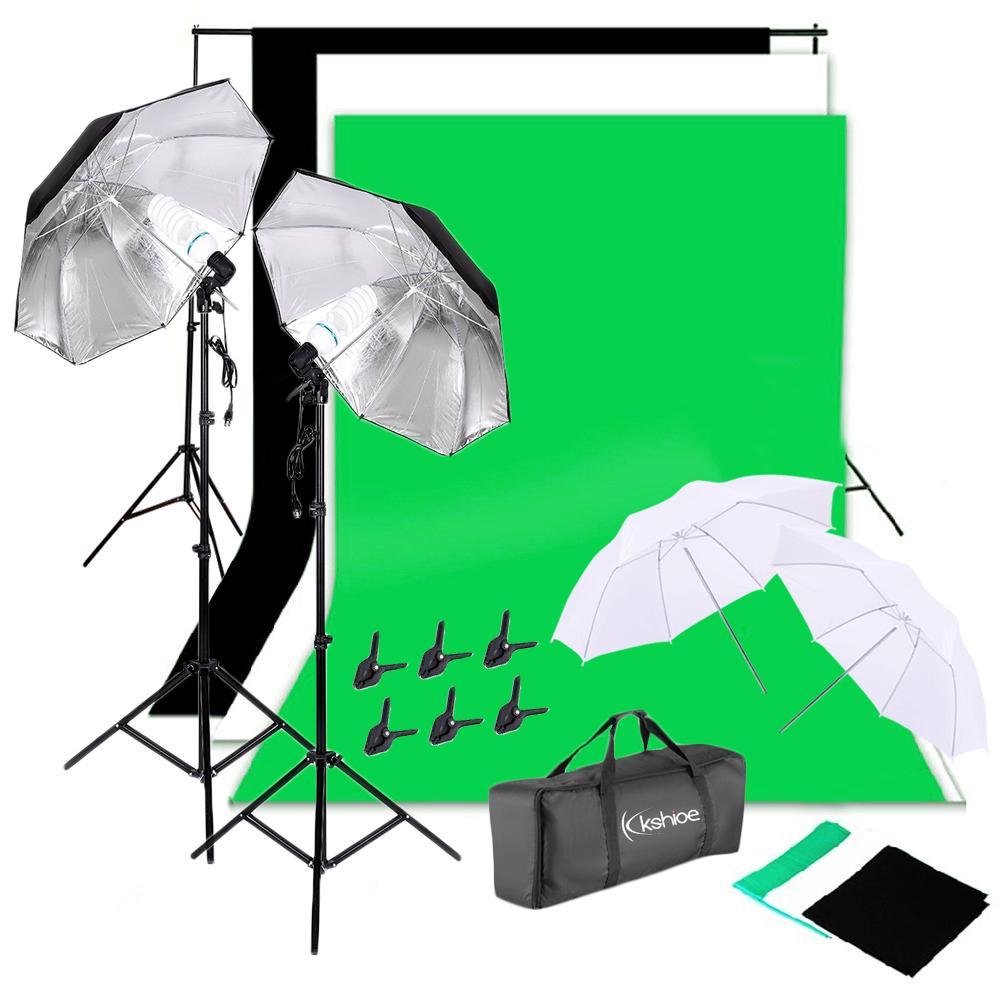 Sfondo Stand Non-tessuti Tessuti Set Fotografia Studio Morbido Kit ombrello morbido e bagaglio da trasporto nave da USA
