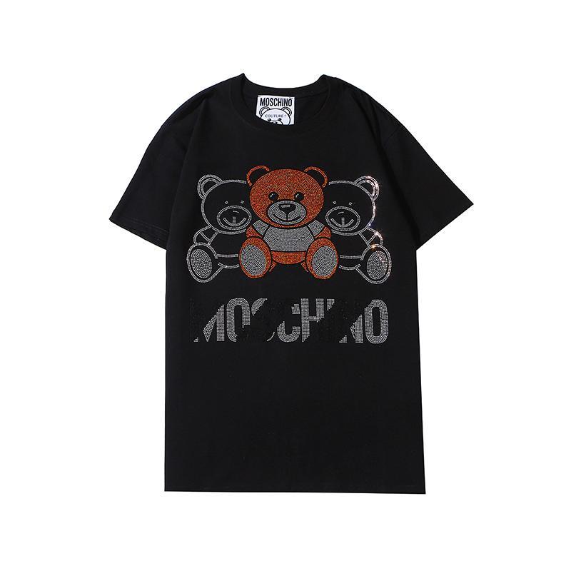 Designer Hommes Femmes Shirt Mode Hommes Luxe T-shirt à manches courtes T-shirts Marque Ours Motif Hommes Streetwear B102745K