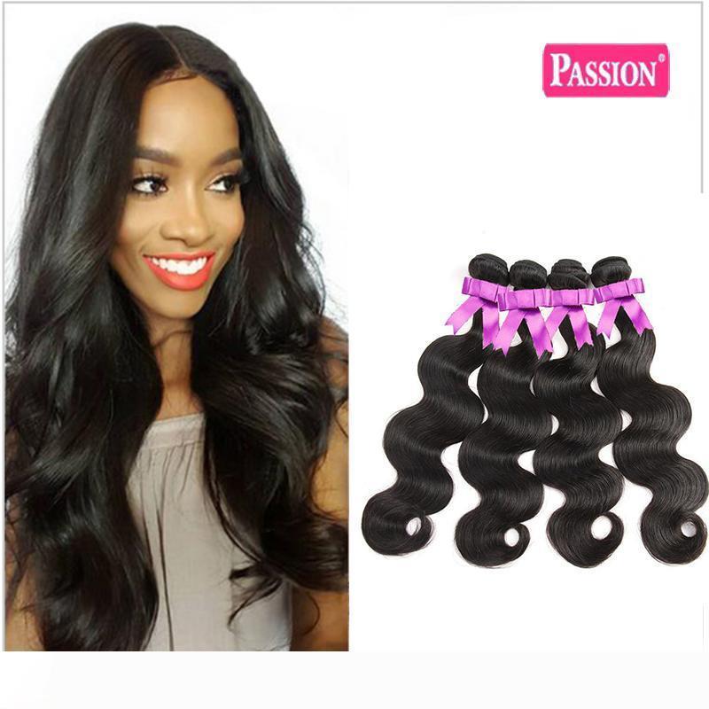 Brasiliana Body Wave capelli umani 3 pacchi Lordo brasiliano peruviano malese dell'onda del corpo di umani del Virgin estensioni dei capelli di colore naturale