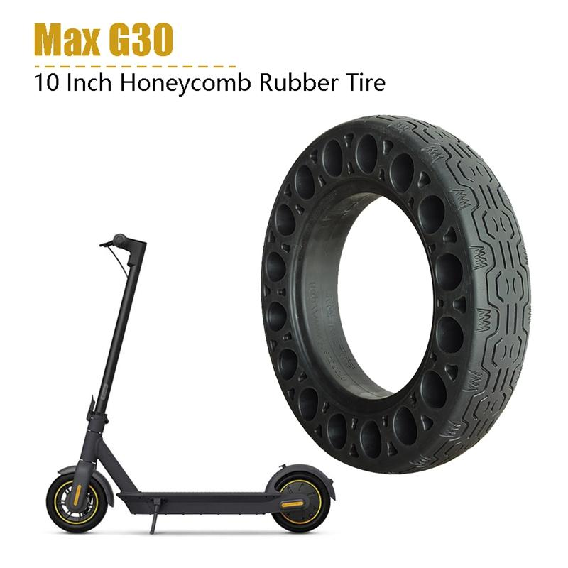 Ninebot 최대 전기 스쿠터 벌집 흡수 댐핑 타이어 블랙에 대한 2PCS 10 인치 고무 솔리드 타이어