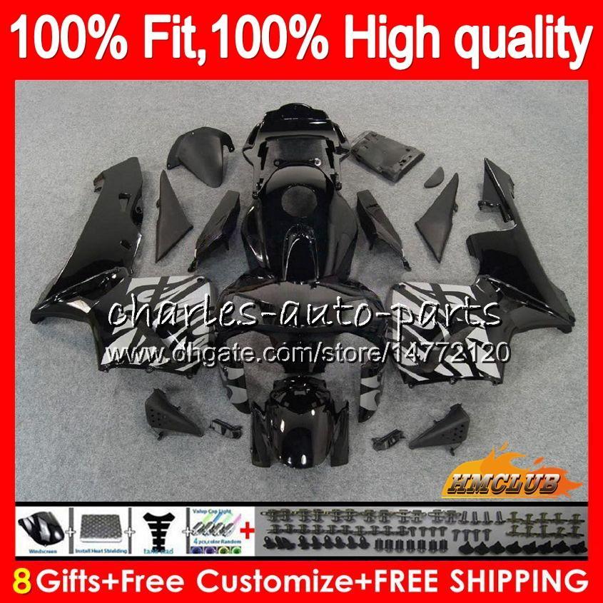 Honda CBR 600RR 600F5 CBR600F5 CBR600 RR 03 Silvery Black 81HC.10 CBR600RR CBR 600 RR F5 03 2003 2004 2004 2004 100%フィットフェアリング