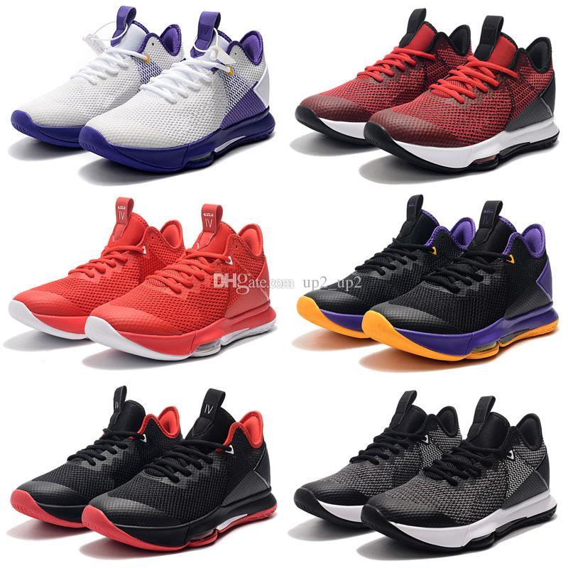 Erkek FMVP LeBron Tanık 4 4 S EP Açık Ayakkabı Şampiyonası King Lebrons IV Sneakers Eğitmenler