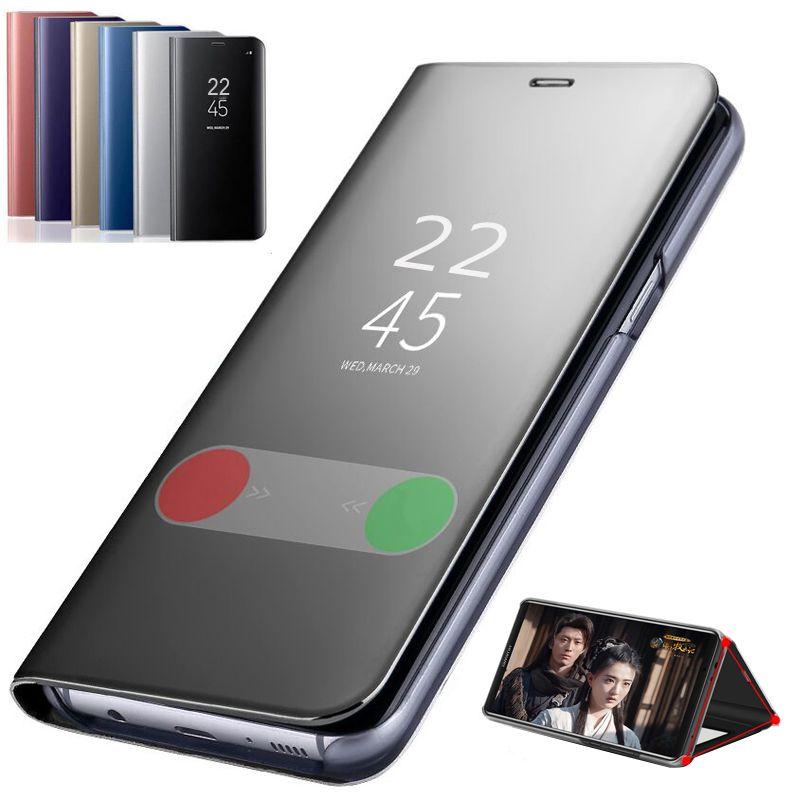 스마트 미러 가죽 케이스 테 10 10Pro10Lite Note10 10Pro 명확한 럭셔리 휴대 전화의 경우 테 9T 프로 9Pro9Lite A3 9 8Lite8