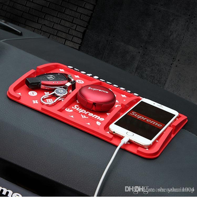 Творческое парковка карты Авто Temporary автомобиля Anti-Slip приборной панели автомобиля Sticky Pad Non-Slip Mat GPS телефон владельца Dec22